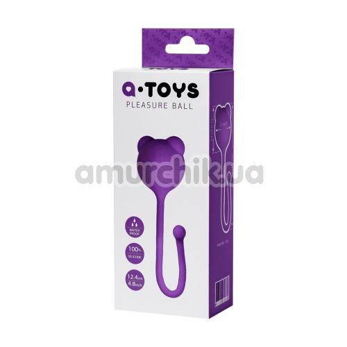 Вагинальный шарик A-Toys Pleasure Ball 764014-7, фиолетовый
