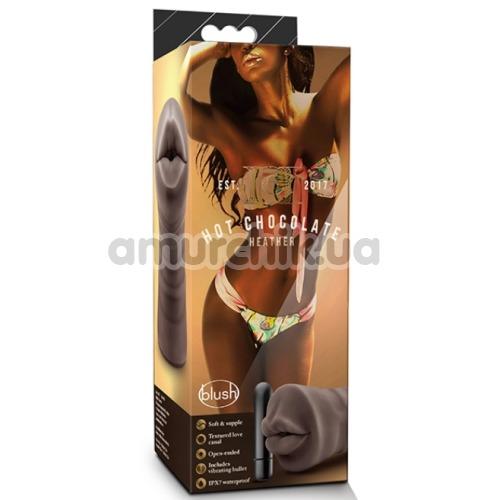 Симулятор орального секса с вибрацией Hot Chocolate Heather, коричневый