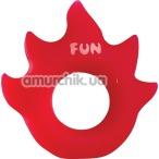 Эрекционное кольцо Fun Factory Flame, красное - Фото №1