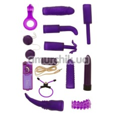 Набор из 12 предметов Dirty Dozen Sex Toy Kit, фиолетовый