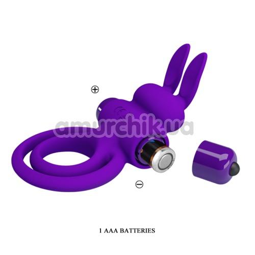 Виброкольцо Pretty Love Vibrant Penis Ring III, фиолетовое