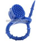Эрекционное кольцо Passion Lock Vibrating Cockring, голубое - Фото №1