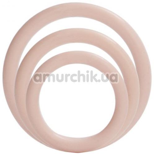 Набор эрекционных колец Silicone Support Rings, телесный
