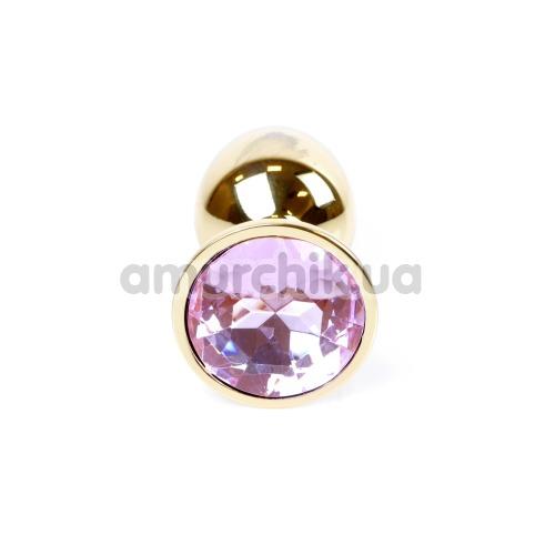 Анальная пробка со светло-розовым кристаллом Exclusivity Jewellery Gold Plug, золотая