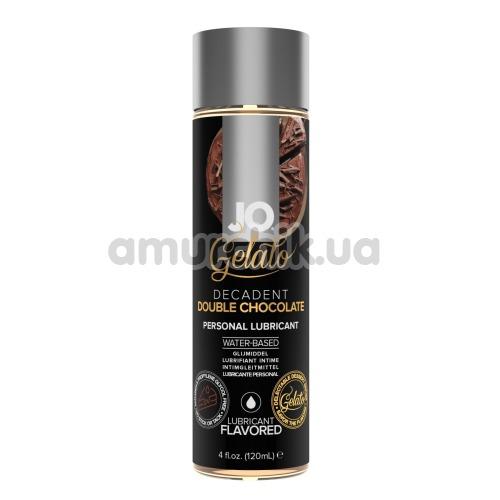 Оральный лубрикант JO Gelato Decadent Double Chocolate - двойной шоколад, 120 мл - Фото №1