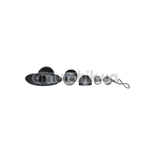 Анальная пробка с вибрацией Anal Fantasy Collection Remote Control Silicone Plug, черная