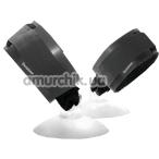 Наручники Sportsheets Suction Cup HandCuffs, черные - Фото №1
