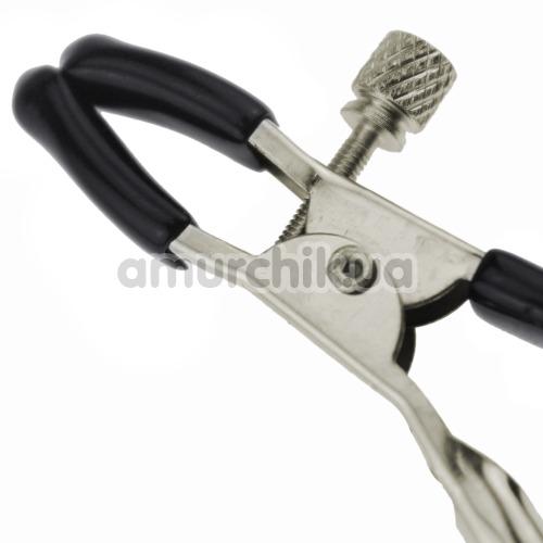 Зажимы для сосков Glocke Nippel с колокольчиками, серебряные