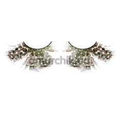 Ресницы Brown-Green Feather Eyelashes (модель 643) - Фото №1