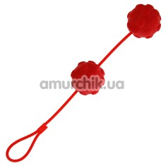 Вагинальные шарики Sweet Hearts, красные - Фото №1