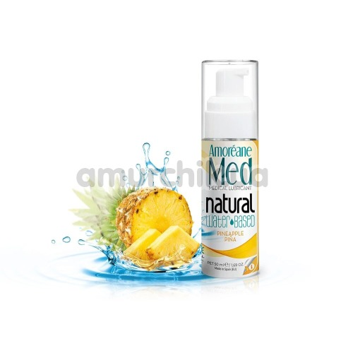 Лубрикант с фитопланктоном Amoreane Med Natural Pineapple Pina - ананас, 50 мл