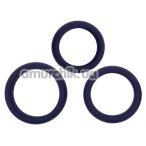 Набор эрекционных колец Hombre Xtra Stretch Silicone C-Bands, синий - Фото №1