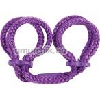 Фиксаторы для рук Japanese Silk Love Rope Wrist Cuffs, фиолетовые - Фото №1