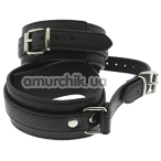 Поножи Blaze Luxury Fetish Ancle Cuffs With Connection Strap, черные - Фото №1