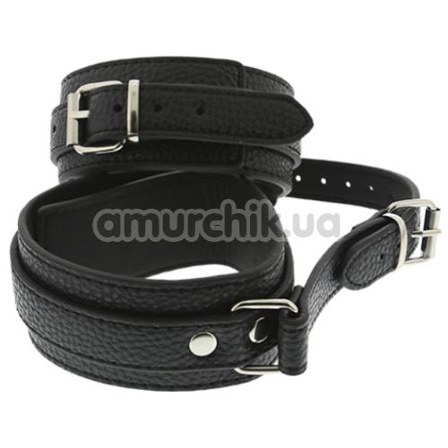 Поножи Blaze Luxury Fetish Ancle Cuffs With Connection Strap, черные - Фото №1