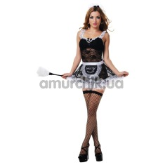 Костюм горничной LeFrivole Maid Costume (02794), чёрный - Фото №1