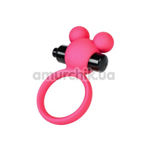 Виброкольцо A-Toys Cock Ring 768018-9, розовое