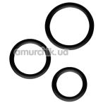 Набор эрекционных колец All Time Favorites Set Of 3 Silicone Cock Rings, черный - Фото №1