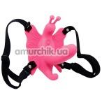 Вибратор-бабочка Ultra Passionate Harness, розовый - Фото №1
