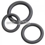 Набор из 3 эрекционных колец Malesation Cock Ring Set Beginner, чёрный - Фото №1