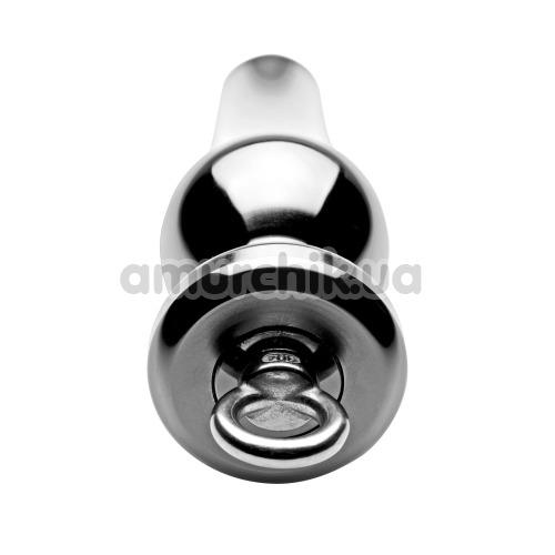 Анальная пробка Tom of Finland Weighted Aluminum Plug with Pull Ring, серебряная