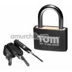 Замок с ключами Tom of Finland Metal Lock, черный - Фото №1