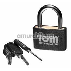 Замок с ключами Tom of Finland Metal Lock, черный