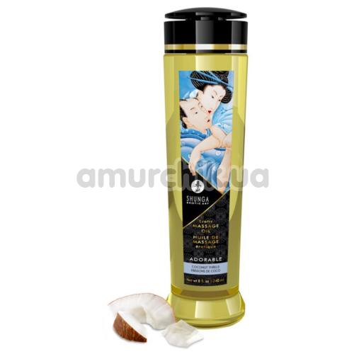 Массажное масло Shunga Erotic Massage Oil Adorable Coconut Thrills - кокос, 240 мл