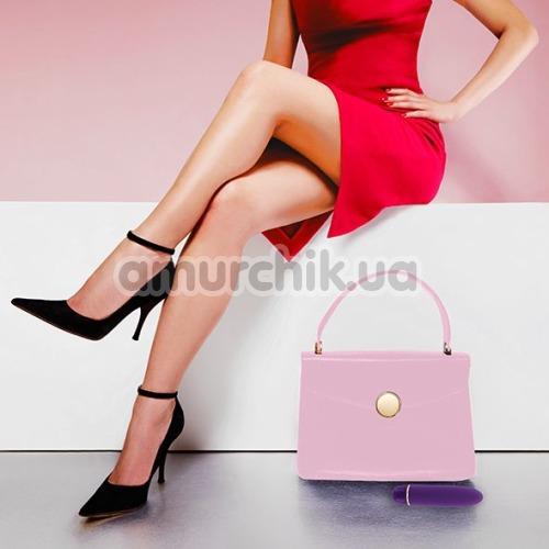 Вибратор Rianne S Classique Vibe Stud с радужной сумкой, фиолетовый