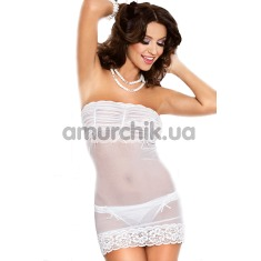 Комплект Chemise with panties (модель 1702) белый: комбинация + трусики