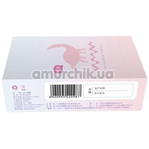 Виброяйцо Leten Dinosaur Baby Pink, розовое