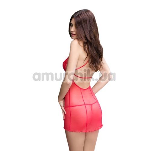 Комплект Sonia красный: комбинация + трусики-стринги