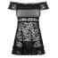 Комплект Obsessive Flores, чёрный: пеньюар + трусики-стринги - Фото №3