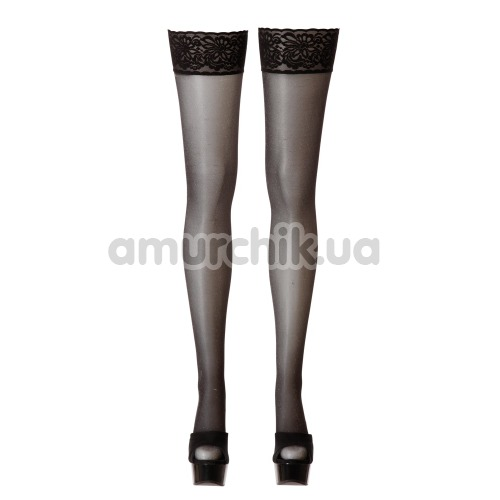 Чулки Cotelli Collection Hold-up Stockings 2520508, черные