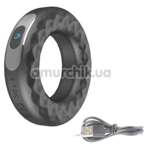 Виброкольцо Rechargeable Vibrating Ring Cock CR-201116, черное