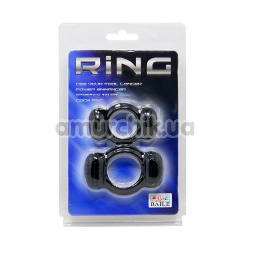 Набор из 2 эрекционных колец Ring, черный