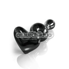 Анальная пробка Icicles No.74, черная - Фото №1