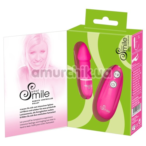 Виброяйцо Smile Remote Controlled Bullet, розовое