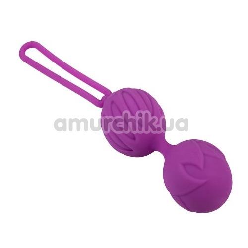 Вагинальные шарики Adrien Lastic Geisha Lastic Balls L, фиолетовые - Фото №1