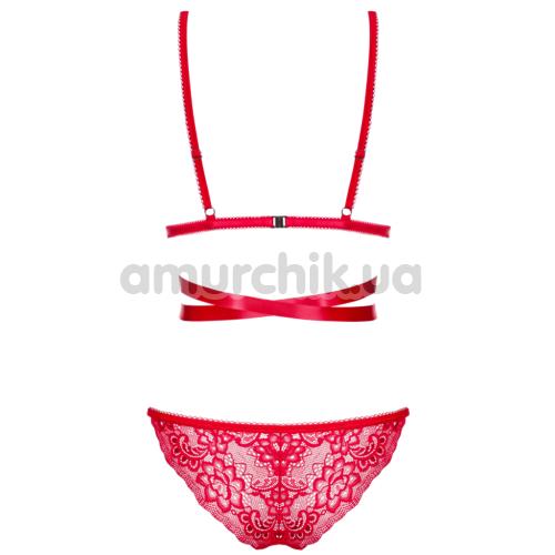 Комплект Obsessive Lovlea красный: бюстгальтер + трусики