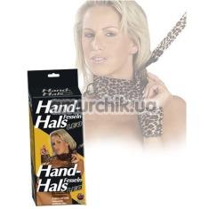 Наручники и повязка на шею с поводком Hand-Hals-Fesseln mitLeine Leo - Фото №1