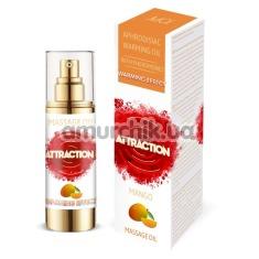 Массажное масло с феромонами Aphrodisiac Warming Massage Oil Attraction Mango с согревающим эффектом - манго, 30 мл - Фото №1
