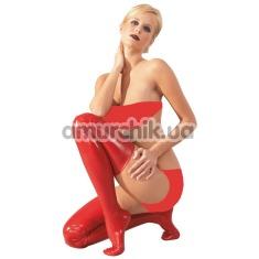 Чулки Latex Stockings 2900041, красные - Фото №1