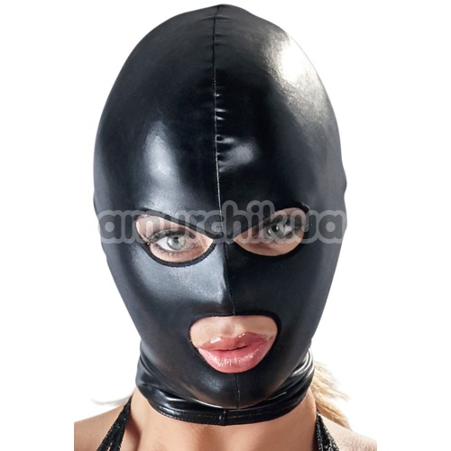 Маска Bad Kitty Naughty Toys Hood Eyes Mouth Mask, черная - Фото №1