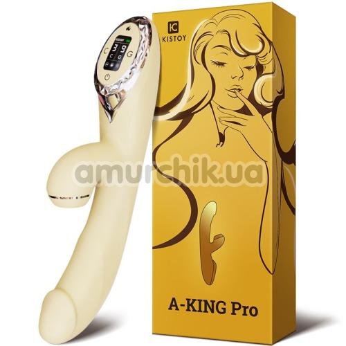 Вибратор KissToy A-King Pro, желтый