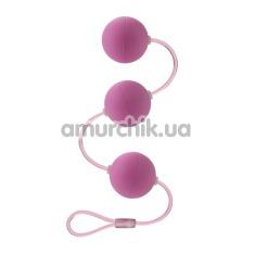 Вагинальные шарики First Time Triple Lover, розовые - Фото №1