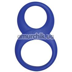 Эрекционное кольцо Rocks-Off 8 Ball Ring, синее - Фото №1