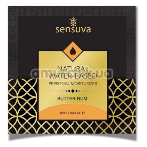 Лубрикант Sensuva Natural Water-Based Butter Rum - сливочный ром, 6 мл