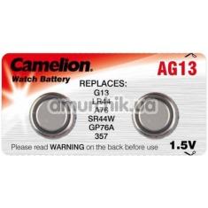 Батарейки Camelion Plus Alkaline LR44 (AG13), 2 шт - Фото №1