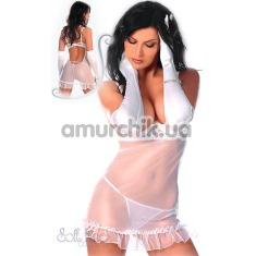 Комплект Lisa белый: комбинация + трусики-стринги